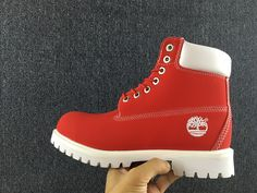 pefect red timberland boots for children