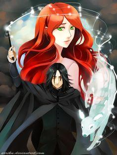 Patronus (Lily x Snape) Artwork by arriku