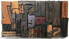 Alphabet Letterpress Wood Printing Blocks Wooden Letter Font Type Letterforms | eBay