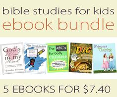 Bible Studies for Kids Bundle - Homeschool: Faith, Family, Health, and Heart Training