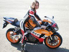 Riding a Honda CBR 1000RR Repsol Replica sportbike