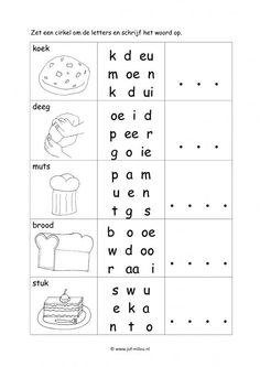 Werkbladen taal - bakker ~ Juf Milou Grade R Worksheets, Escape Room, Pre School, Homeschool, Letters, Teaching, Spelling, Google, Initials