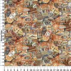 View world map on cotton fabric shop our huge selection of thread tim holtz eclectic elements travel neutral cotton fabric gumiabroncs Choice Image