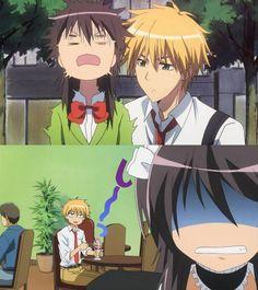 Anime/manag: Maid Sama Characters: Misaki and Takumi, Takumi the Stalker of Misaki.