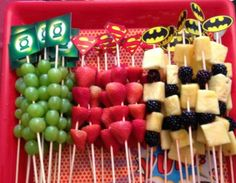 Have you seen cuter fruit skewers?