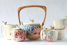 Objetos de cerámica para el hogar  @gpetrini encontre el fucking juego de teeeeeeeee!!! medio tarde jajaj