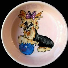 Client Order: Yorkie Terrier Dog Bowl