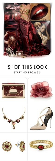 """""""❊ DARK & ELEGANT ❊"""" by kelley74 ❤ liked on Polyvore featuring Elie Saab, Rauwolf, Michal Negrin, René Caovilla and 1928"""