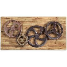 industrial gears wall dcor 255 cad liked on polyvore featuring home home