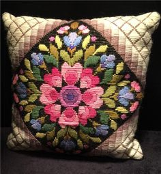 This Is One Of The Reasons Why I Love Textile Crafts. This Is An Old Cushion  And The Colors Are Still As Vibrant As Ever.