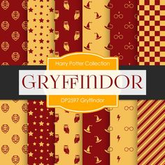 Gryffindor Harry Potter Digital Paper DP2597