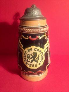 Swiss Beer Stein Fribourg Vintage Original  Antique