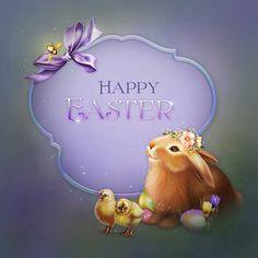 "Jaguarwoman's ""Easter Bunny"" Easter Art, Easter Crafts, Easter Bunny, Easter Pictures, Holiday Pictures, Happy Easter Wallpaper, Easter Quotes, Easter Wishes, Diy Ostern"