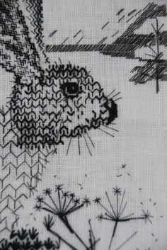 blackwork course |  tutor : Florence Collingwood