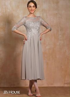 Mother of the Bride & Mother of the Groom Dresses 2020 Wedding Dress For Short Women, Mother Of The Bride Dresses Long, Mother Of Bride Outfits, Tea Length Wedding Dress, Mothers Dresses, Tea Length Dresses, Mother Of Bride Dresses, Older Bride Dresses, Mother Of The Bride Fashion