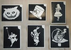 Alice in wonderland stencils