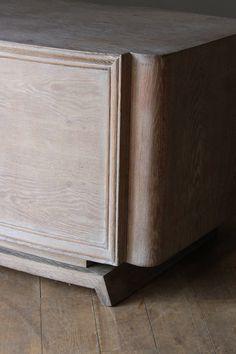 Cerused Oak Curved Front Desk, France, 1930s image 6