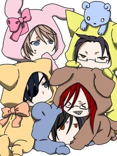 Grell's trying to get close as possible to Sebby and Ciel says NO MIEN.