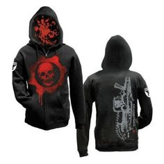 Gears Of War 2 Omen With Gun Hoodie