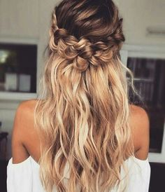 Crown braids with ombre! So fab!