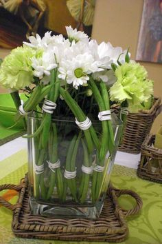 flowers & vetegable decoration - composizione di fiori e verdura
