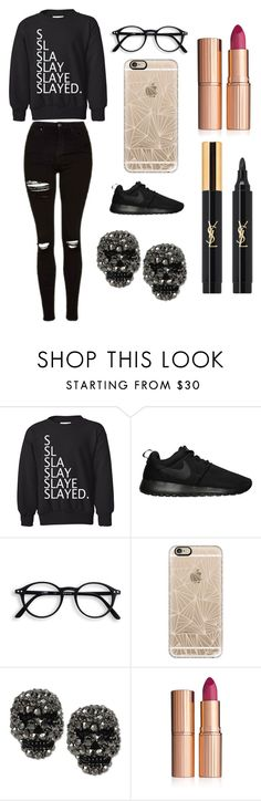 """Sans titre #1533"" by merveille67120 ❤ liked on Polyvore featuring NIKE, Casetify, Betsey Johnson, Charlotte Tilbury and Yves Saint Laurent"