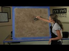 Venetian Plaster Basic Skip Trowel Application Video (short version) by Modern Masters
