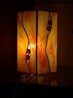 Lampada moderna colore caldo2 - vetro Tiffany (lamp - Tiffany glass)