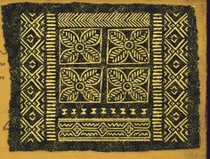 Make your own African Mudcloth called a Bogolanfini....for inspiration, ideas and practice