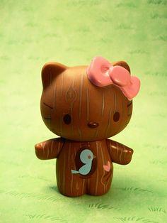 hello kitty woodprint :)