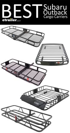 the BEST Cargo Carriers for your Subaru Outback. Find the right roof mounted cargo basket or hitch mounted cargo carrier so you can carry all of your gear on trips and outdoor adventures! Subaru Outback Lifted, Subaru Outback Offroad, Lifted Subaru, Subaru Crosstrek Accessories, Motorhome, Roof Basket, Subaru Baja, Jimny Suzuki, Legacy Outback
