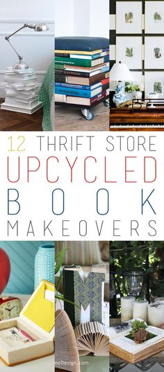 12 Thrift Store Upcycled Book Makeovers - The Cottage Market
