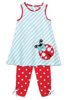 From CWDkids: Ladybug Tunic & Leggings Set Tunic Leggings, Sugar And Spice, My Baby Girl, Ladybug, Spring Fashion, Little Girls, Future, Outfits, Collection