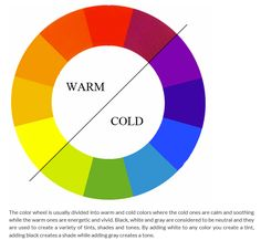 warm and cold colors on color wheel Color Mixing Chart, Color Blending, Warm And Cold Colours, Color Wheel Projects, Color Combinations For Clothes, Isaac Newton, Art Basics, Coordinating Colors, Color Pallets