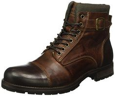Oferta: 96.77€. Comprar Ofertas de Jack & Jones Jfwalbany, Botas Militar para Hombre, Marrón (Brown Stone), 44 EU barato. ¡Mira las ofertas! #botas