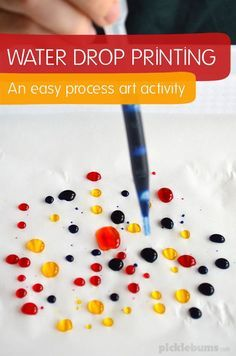 Water Drop Printing - science meets art in this easy process art ativity