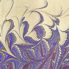 gorgeous marbling  Liquitex Acrylic combined with Golden Fabric Medium (50-50) from George Reynolds