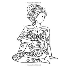Daily Health Tips: Search results for Yoga Zen Yoga, Yoga Art, Yoga Drawing, Line Drawing, Coloring Book Pages, Coloring Sheets, Yoga Tattoos, Art Graphique, Belle Photo