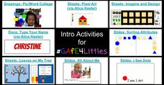 Intro Activities to #GAFE4Littles