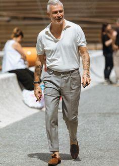 ポロシャツをお洒落に見せる、いまどきのパンツといえば? | ファッションスナップ(メンズ) | LEON.JP