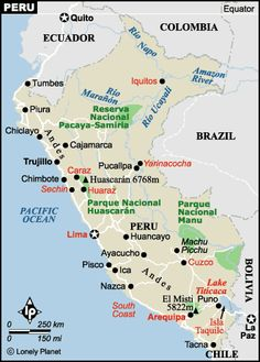 peru map with cities | by John Ahni Schertow on July 12, 2007