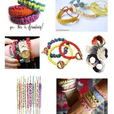 A roundup of modern DIY bracelets, perfect for crafting with girls
