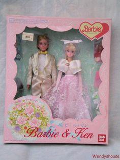 49 99 Rare Boxed Mattel Bandai Barbie Ken Wedding Set Made In Korea Free Uk