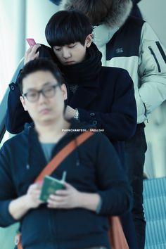 Chanyeol | 141212 Incheon Airport departing for Shenzhen