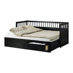 HEMNES Daybed frame with 2 drawers IKEA Four features in one piece of furniture - sofa single bed double bed and storage solution.  sc 1 st  Pinterest & IKEA - HEMNES Daybed frame with storage Four functions - sofa ...
