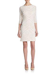 Lace Chevron Dress