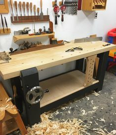 Bench shelf in. #woodworking #handtools #woodwork #workbench