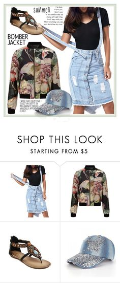"""""""T2/14"""" by jecakns ❤ liked on Polyvore featuring Miss Selfridge and bomberjackets"""