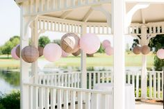 Style Me Pretty   Gallery; gazebo decor, lanterns.  I think this could look very cute and whimsical in our color scheme.
