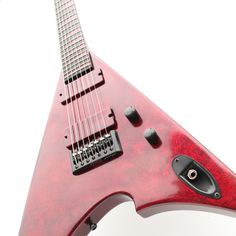 Marble red guitar